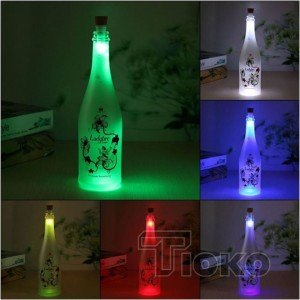 Lampu Tutup Botol USB LED Light Wine Bottle Cork Lamp