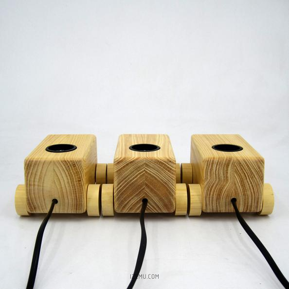 IZEMU AMBU - Wooden Table Lamp, Lampu Meja Kayu
