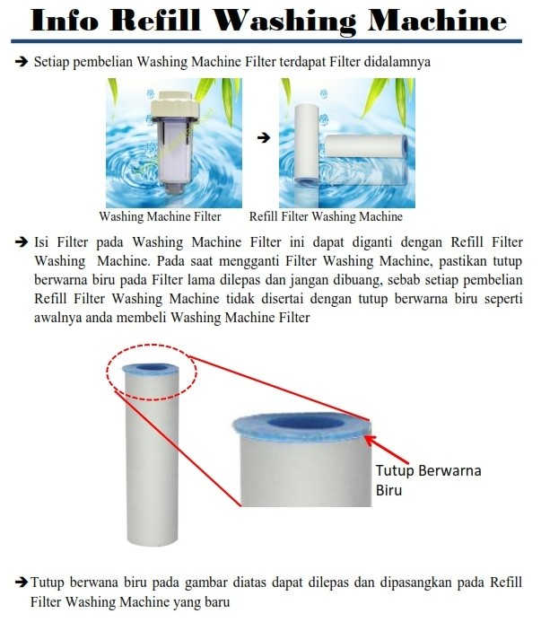 Filter air untuk mesin cuci /Washing Machine Water Filter