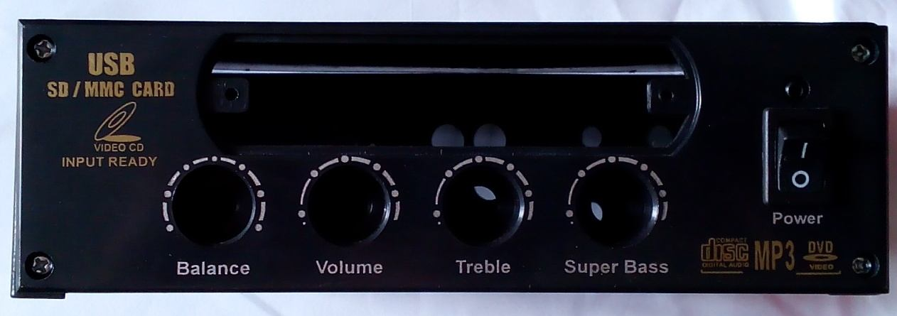 Box amplifier + player usb support