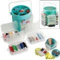 Deluxe sewing kit 210pcs sew box alat perlengkapan jahit set jarum