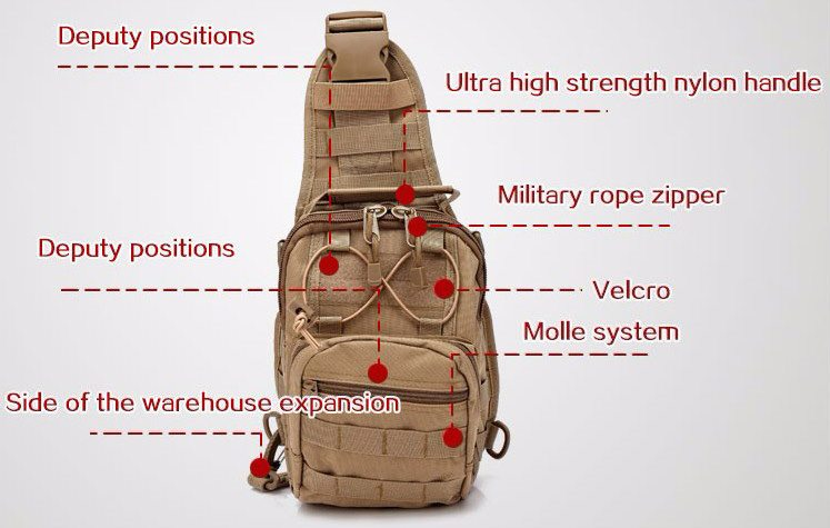 Tas Selempang Outdoor Military Tactical Duffel Backpack 3