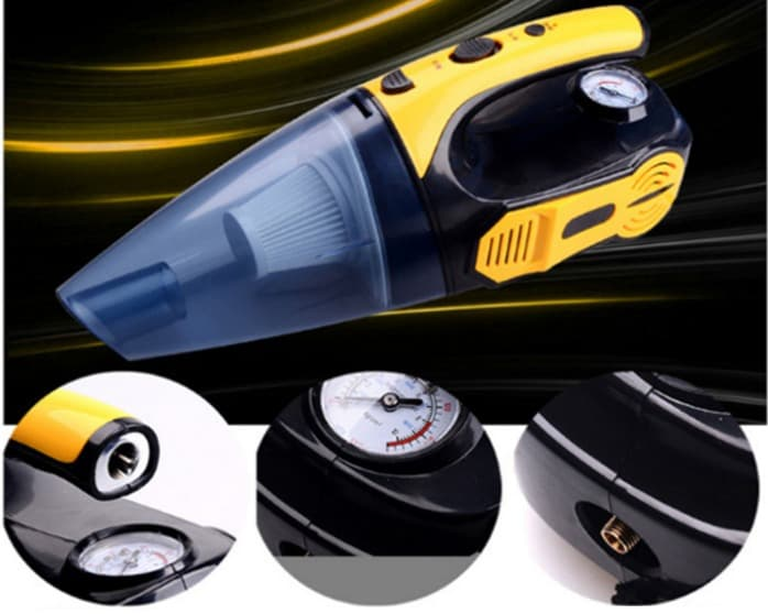 Vacuum Cleaner 4 in 1 Car Portable High Power Tire Inflator Flash new