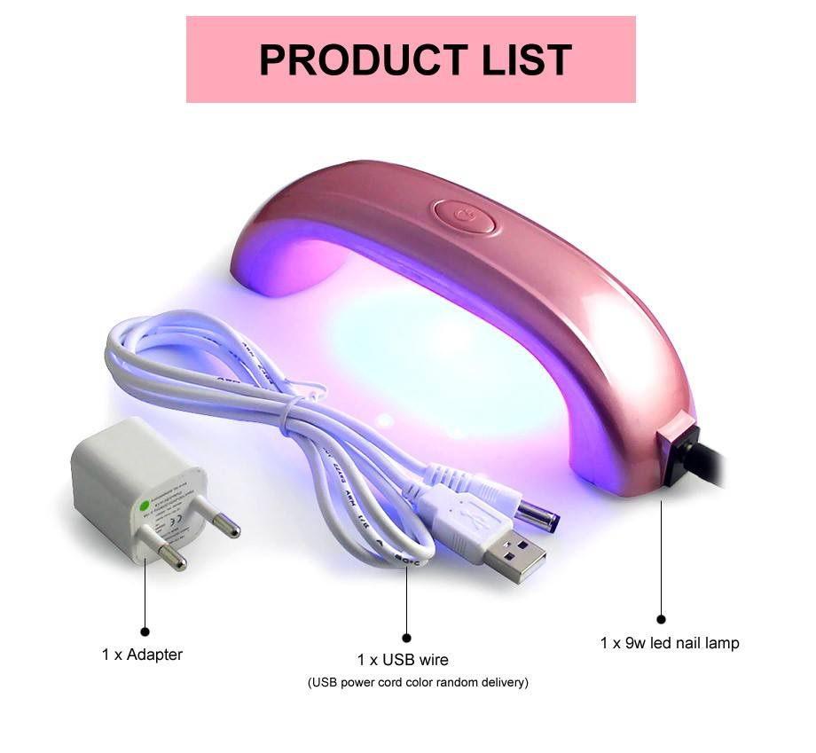 Mini Portable UV LED Curing Dryer for Nail Gel