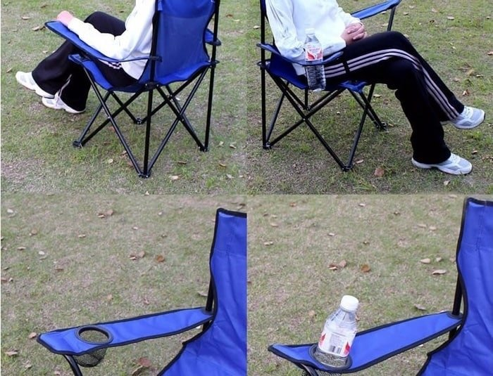 Portable folding fishing chair (kursi lipat taman santai meja pancing)