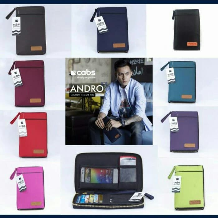 Dompet Kartu / HP Multifungsi Cabs Andro By Cabs Pocket - Navy